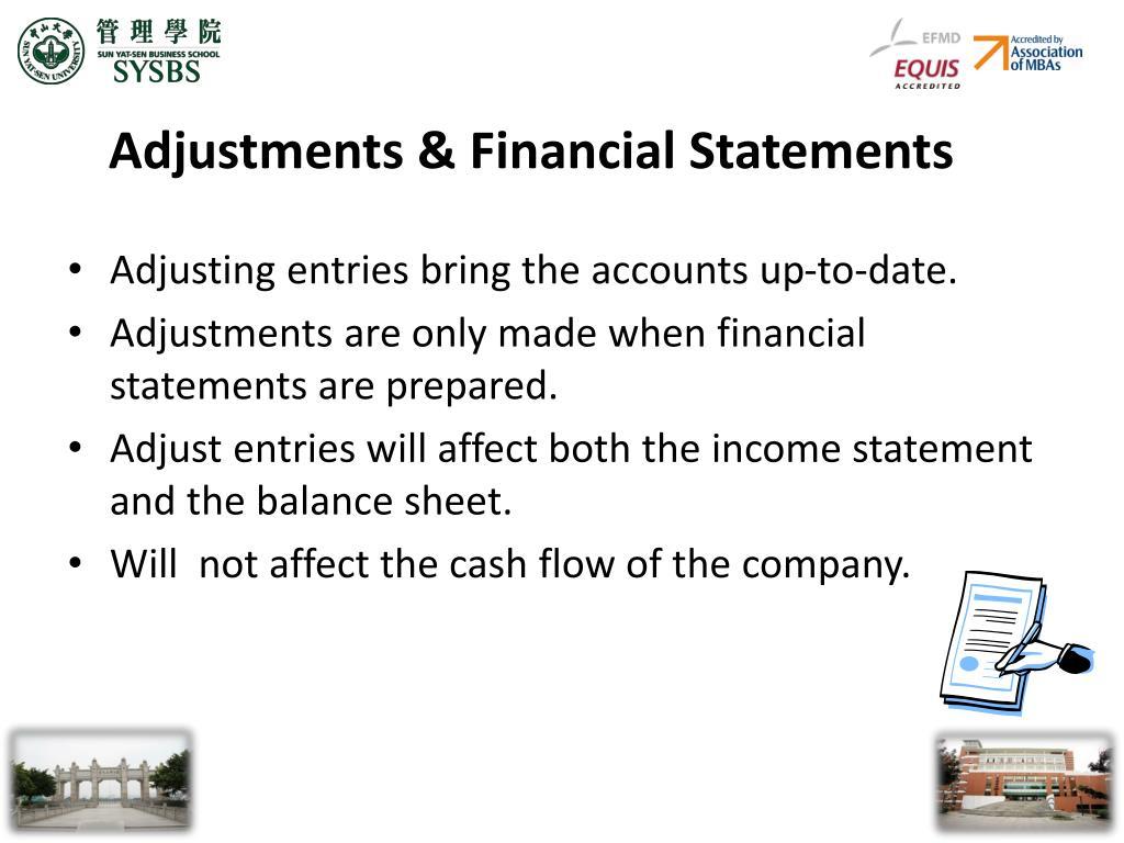 Adjustments & Financial Statements