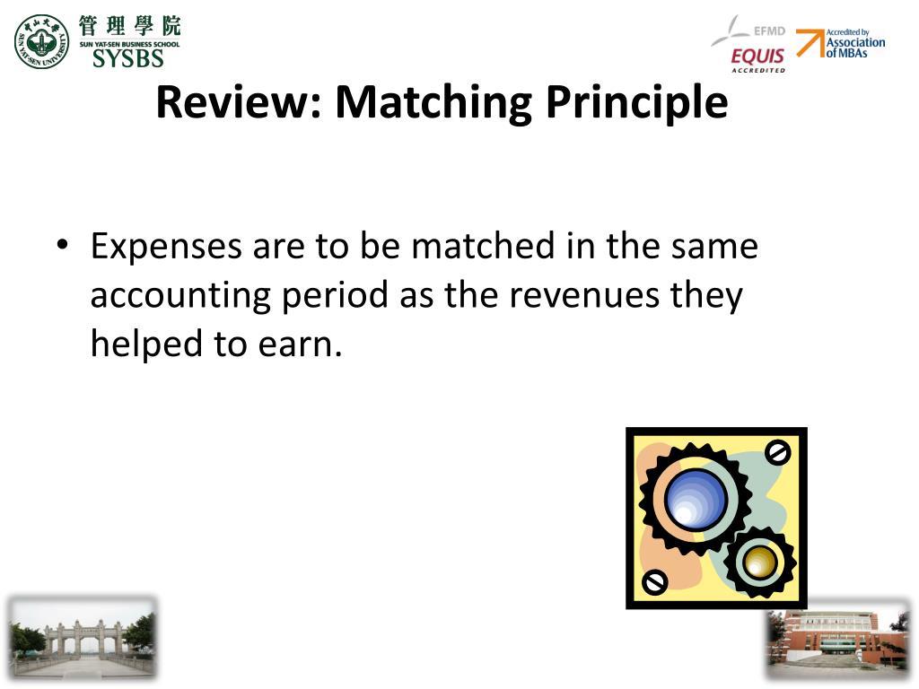Review: Matching Principle