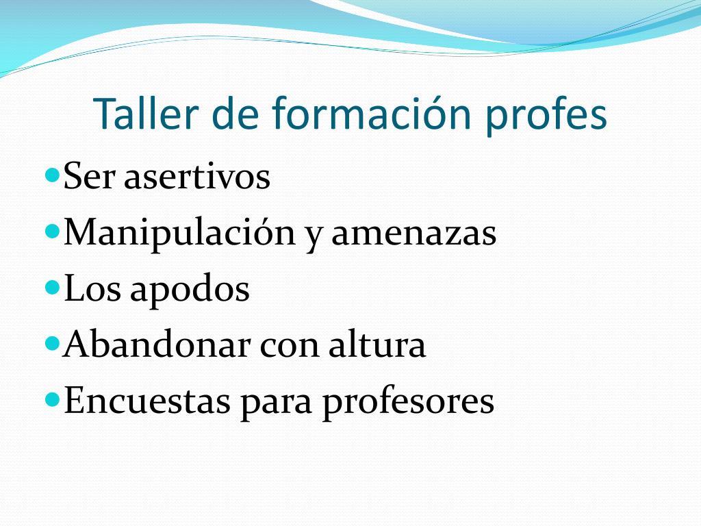 Taller de formación profes