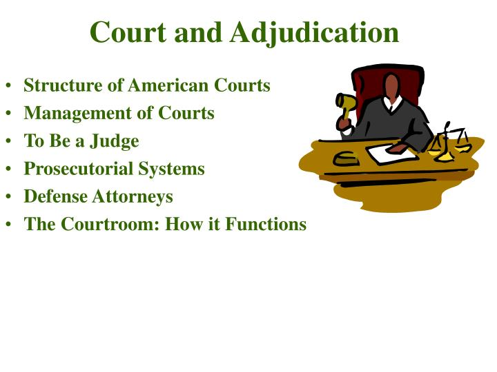 a description of the structure of the court system and jurisdiction Judicial system efficiency: when jurisdiction for a specialized field of the law is   rests within the institutional structure of the agencies themselves, there may be.