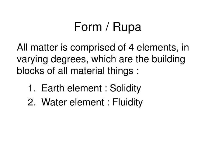 Form / Rupa