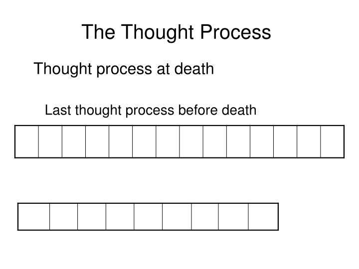 The Thought Process