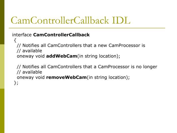 CamControllerCallback IDL