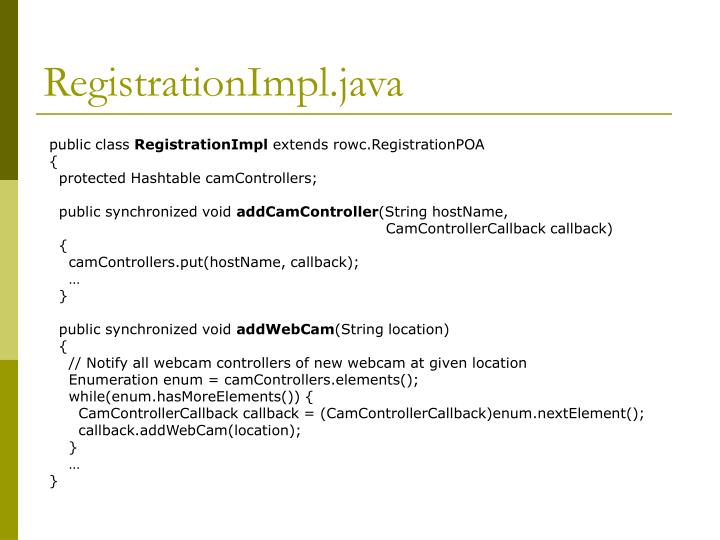 RegistrationImpl.java