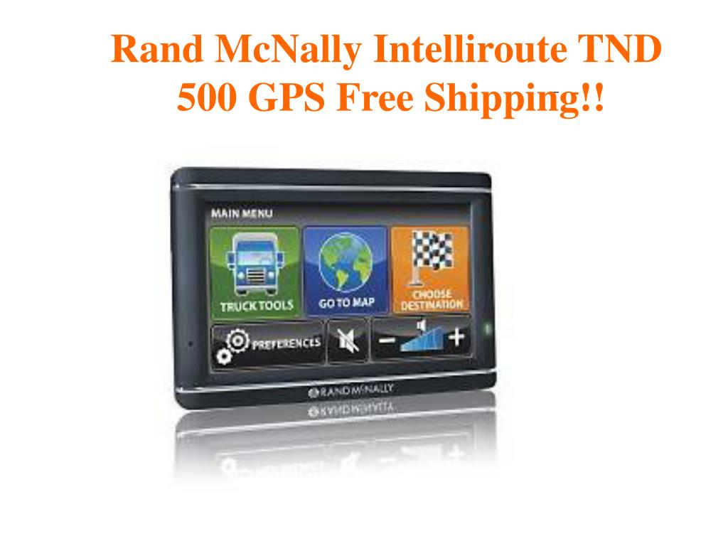 Rand McNally Intelliroute TND