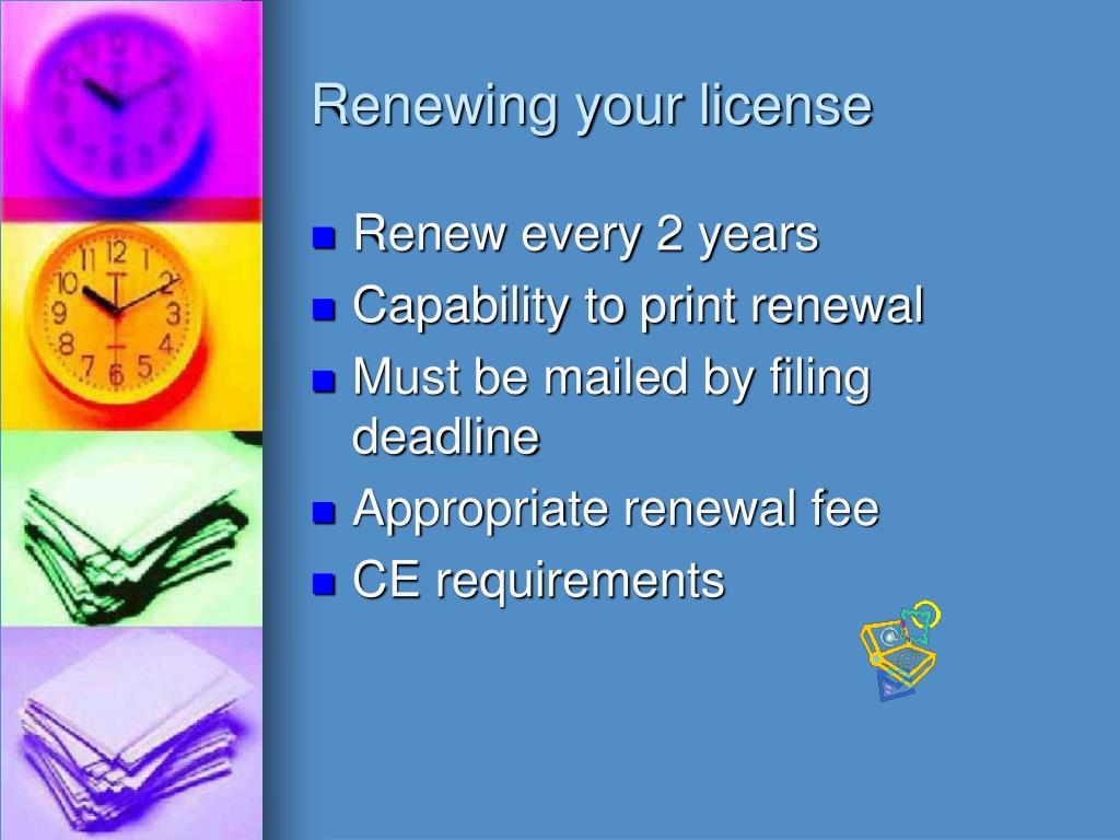 Renewing your license