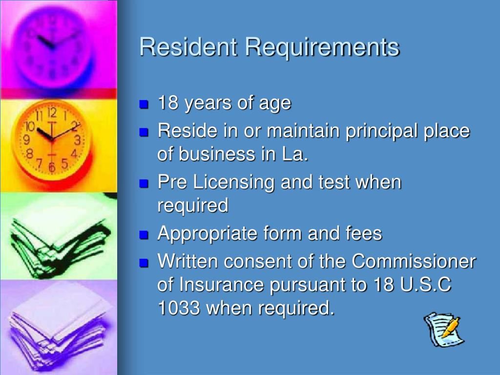 Resident Requirements