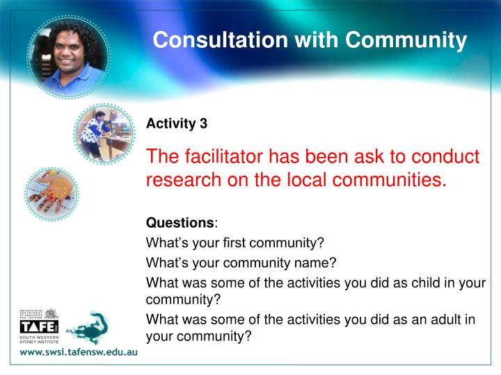 Consultation with Community