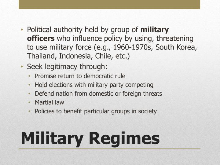 Political authority held by group of