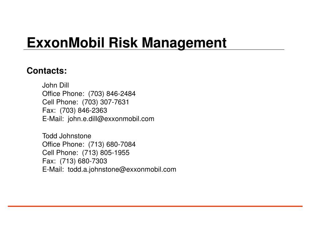 ExxonMobil Risk Management