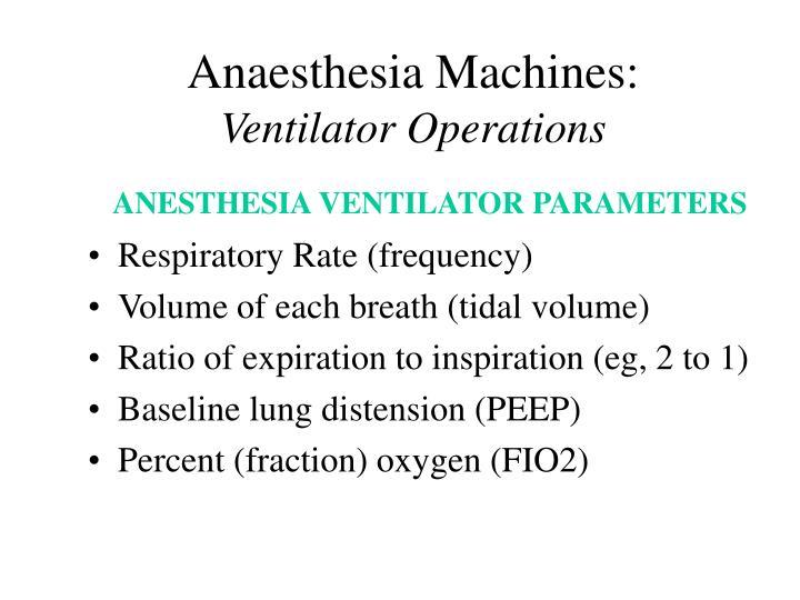 Anaesthesia Machines:
