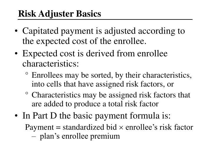 Risk Adjuster Basics