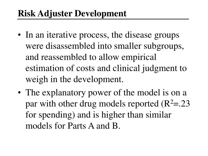 Risk Adjuster Development