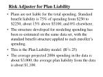 risk adjuster for plan liability