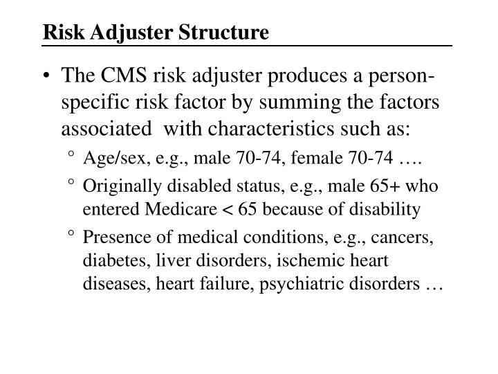 Risk Adjuster Structure