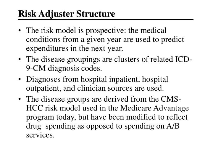 Risk Adjuster Structure