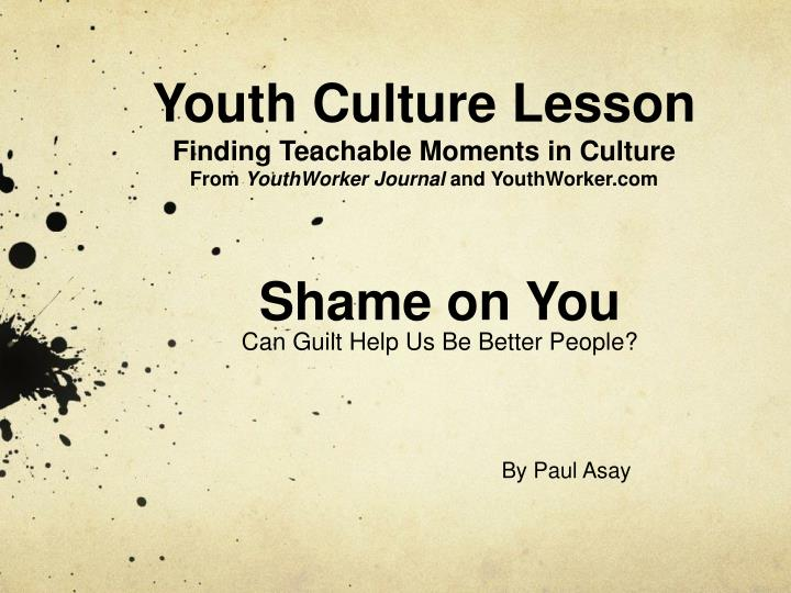 Youth Culture Lesson