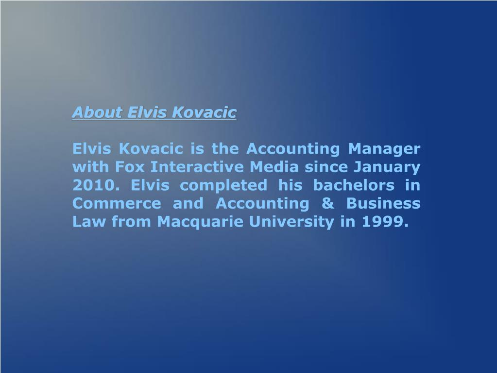 About Elvis Kovacic