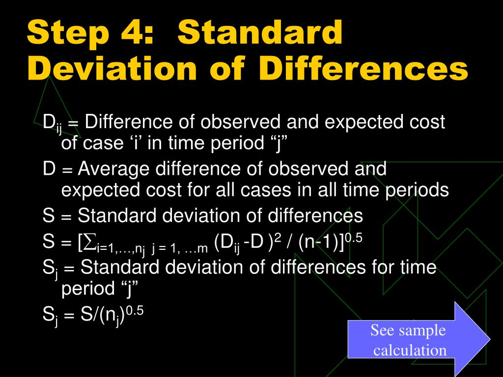 Step 4:  Standard Deviation of Differences