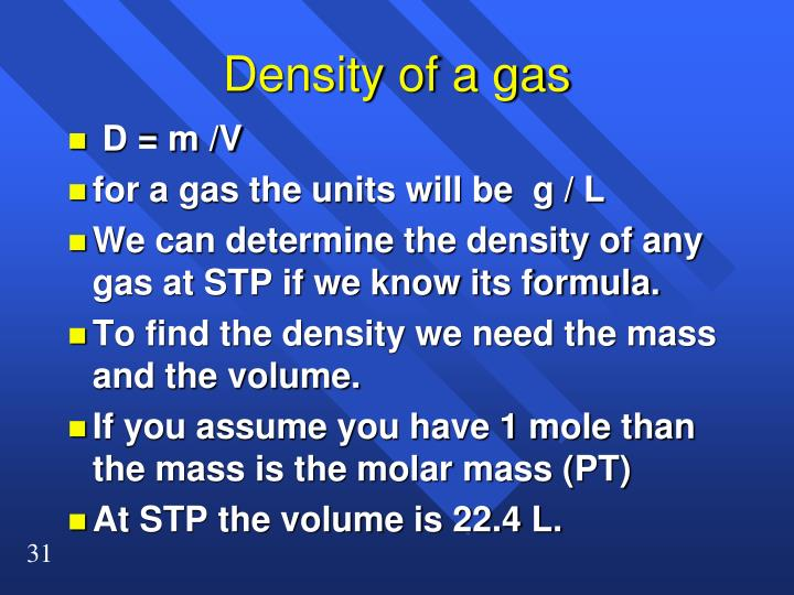 Density of a gas