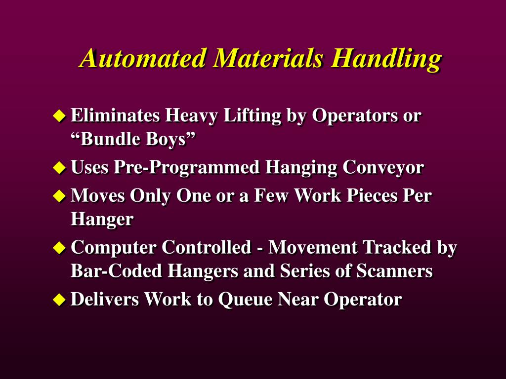 Automated Materials Handling
