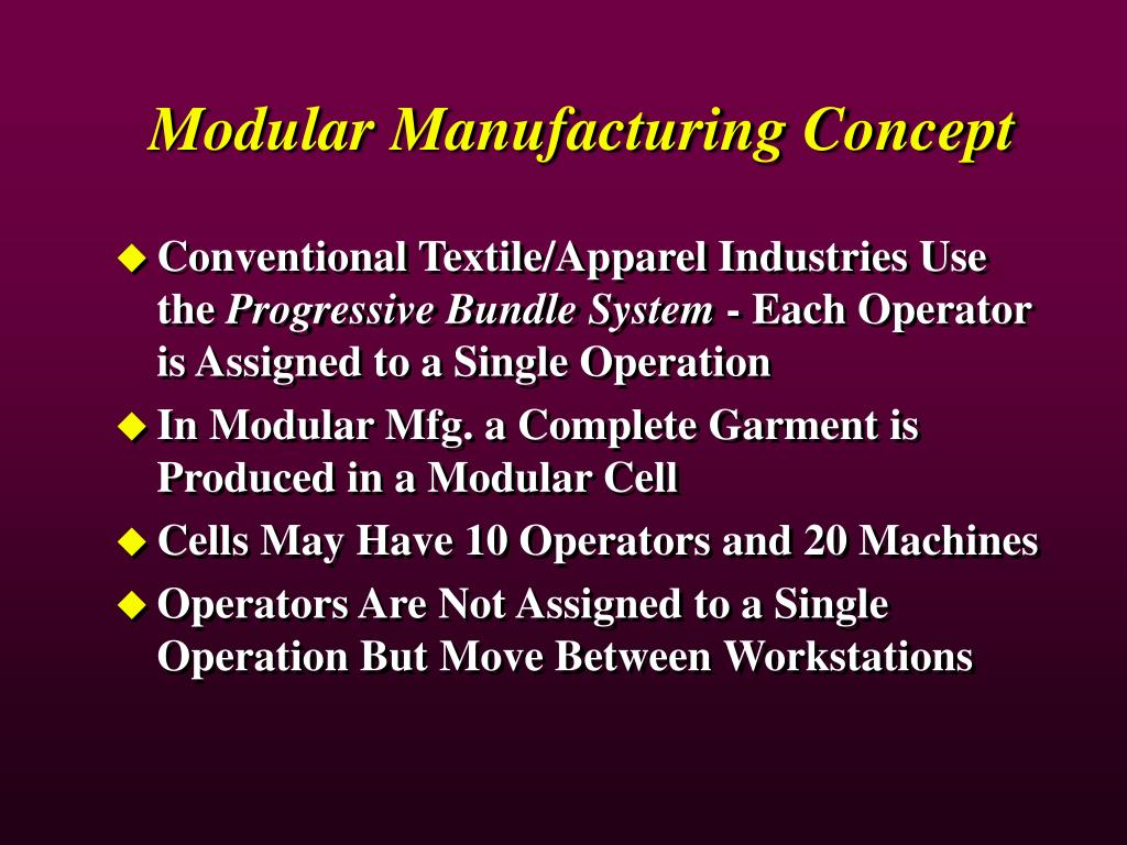 Modular Manufacturing Concept