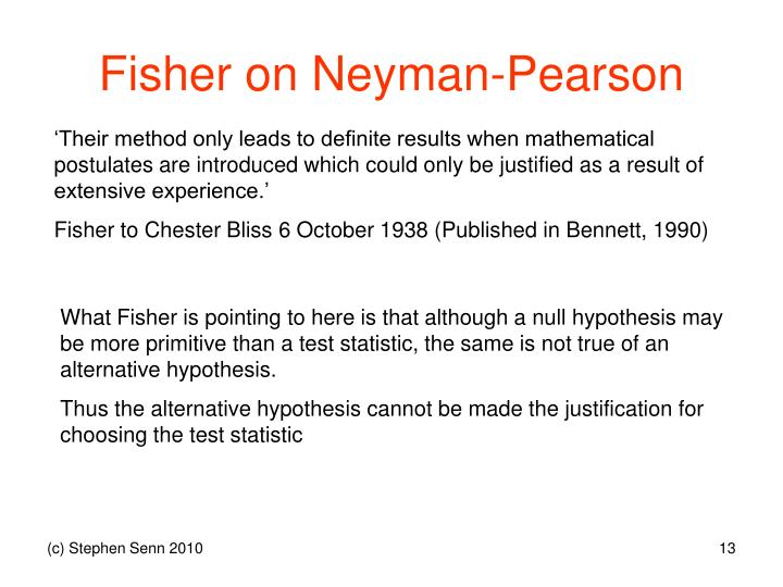 Fisher on Neyman-Pearson