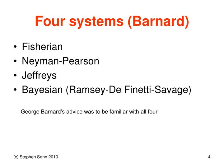 Four systems (Barnard)