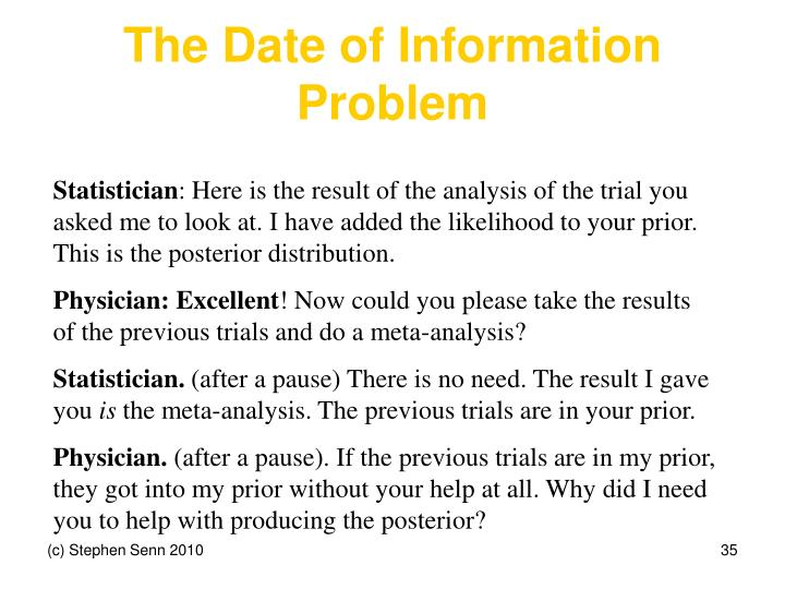 The Date of Information Problem