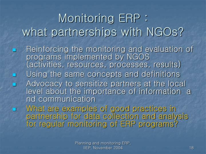 Monitoring ERP :