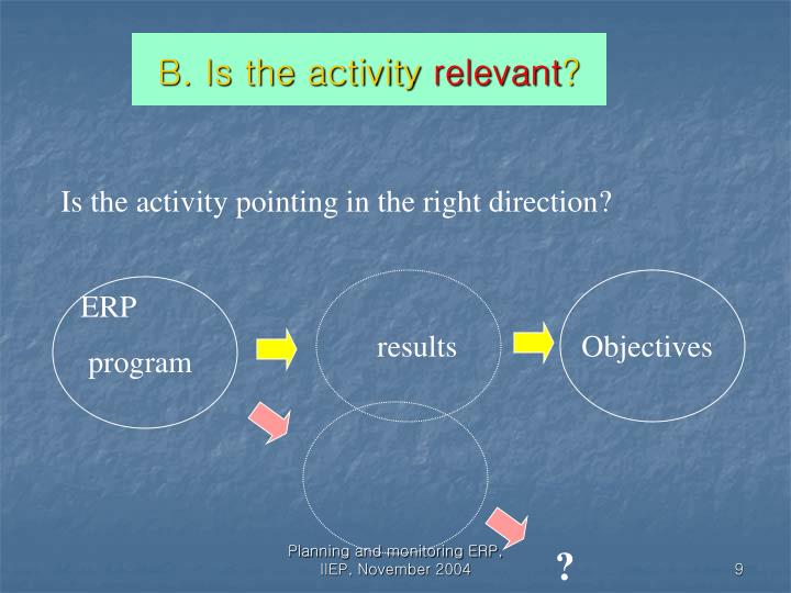 B. Is the activity