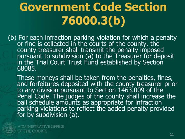 Government Code Section 76000.3(b)