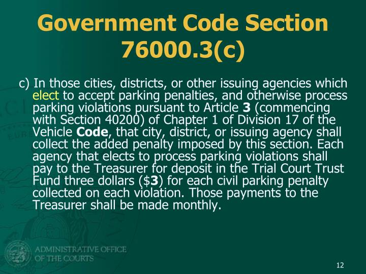 Government Code Section 76000.3(c)