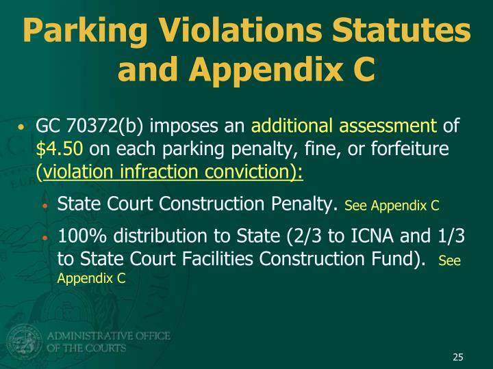 Parking Violations Statutes and Appendix C