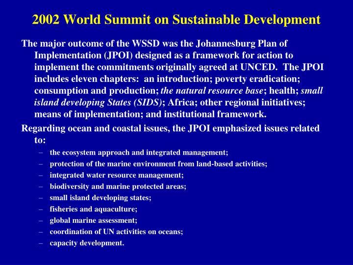 2002 World Summit on Sustainable Development