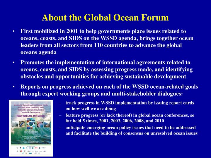 About the Global Ocean Forum