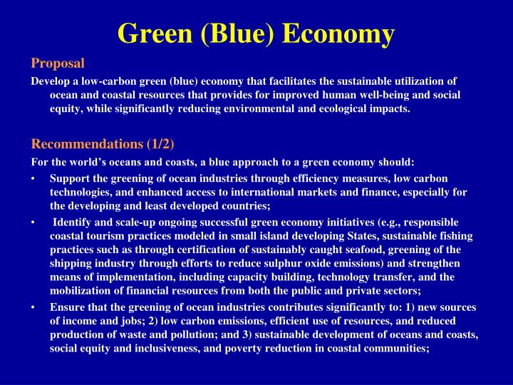 Green (Blue) Economy