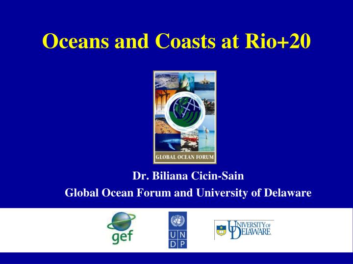 Oceans and coasts at rio 20