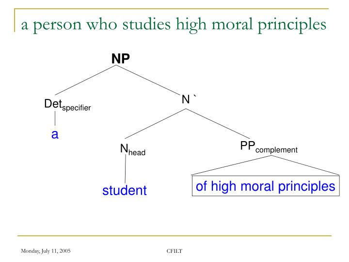 a person who studies high moral principles