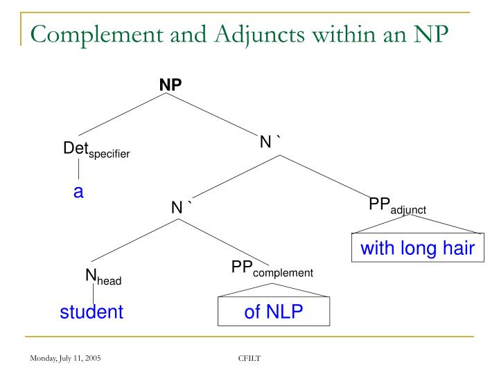 Complement and Adjuncts within an NP