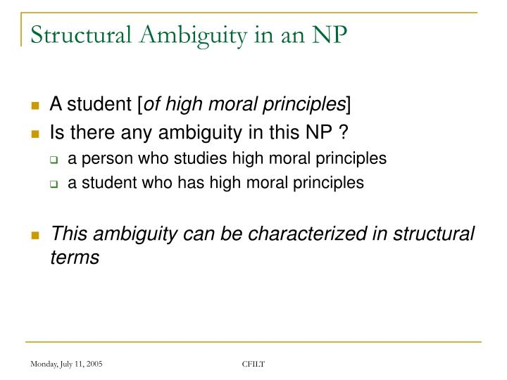 Structural Ambiguity in an NP