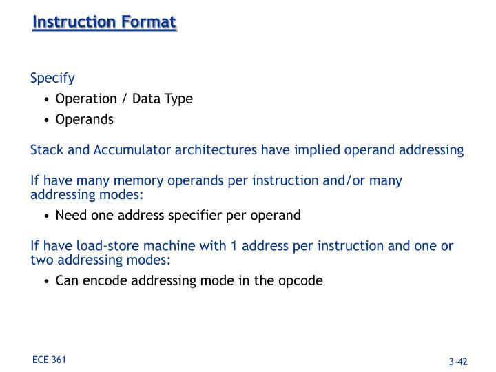 Instruction Format