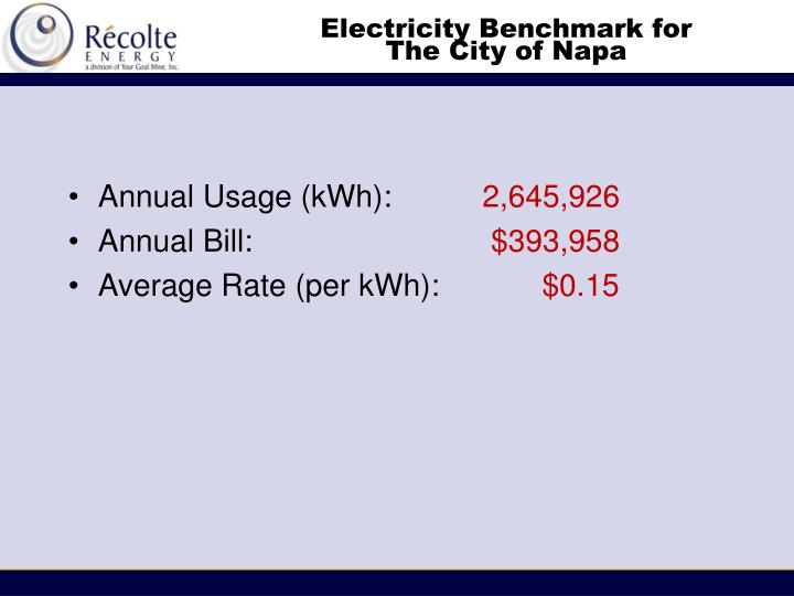 Electricity Benchmark for
