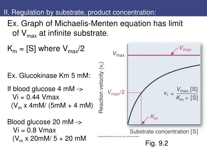 II. Regulation by substrate, product concentration: