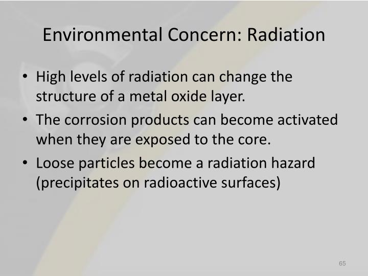 Environmental Concern: Radiation