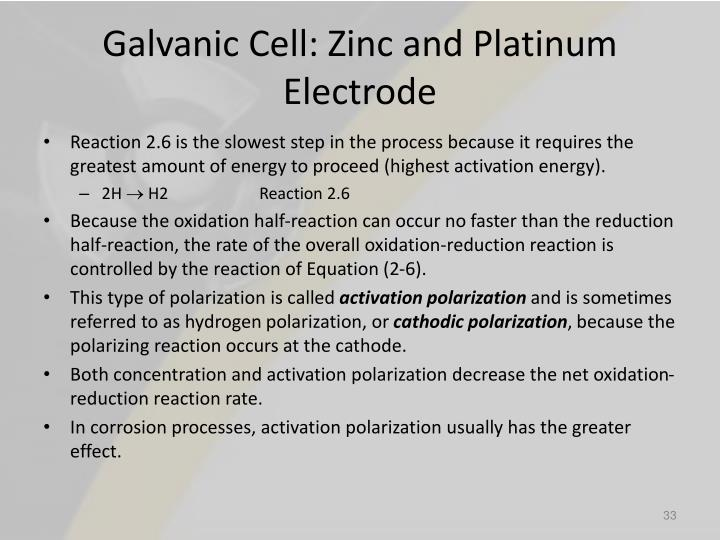 Galvanic Cell: Zinc and Platinum Electrode