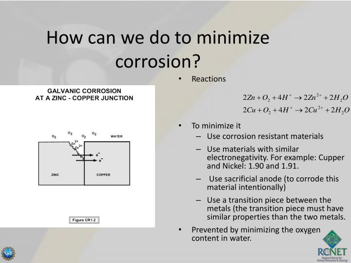 How can we do to minimize corrosion?