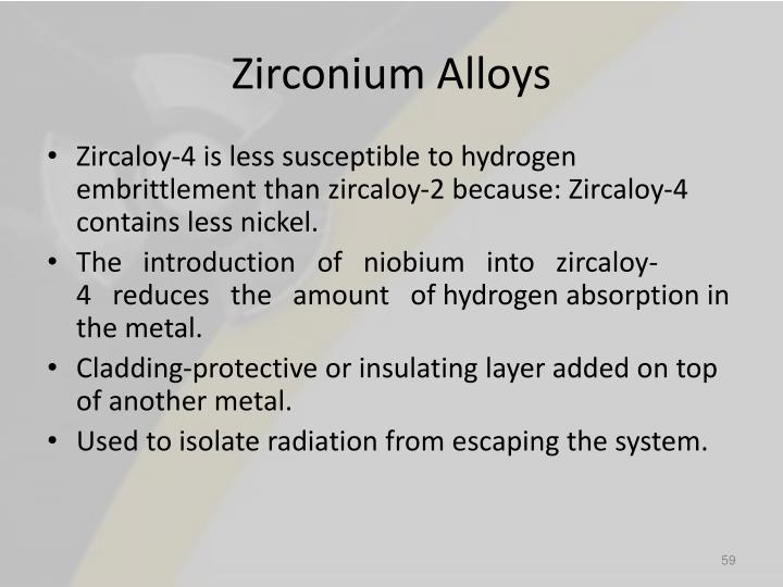 Zirconium Alloys