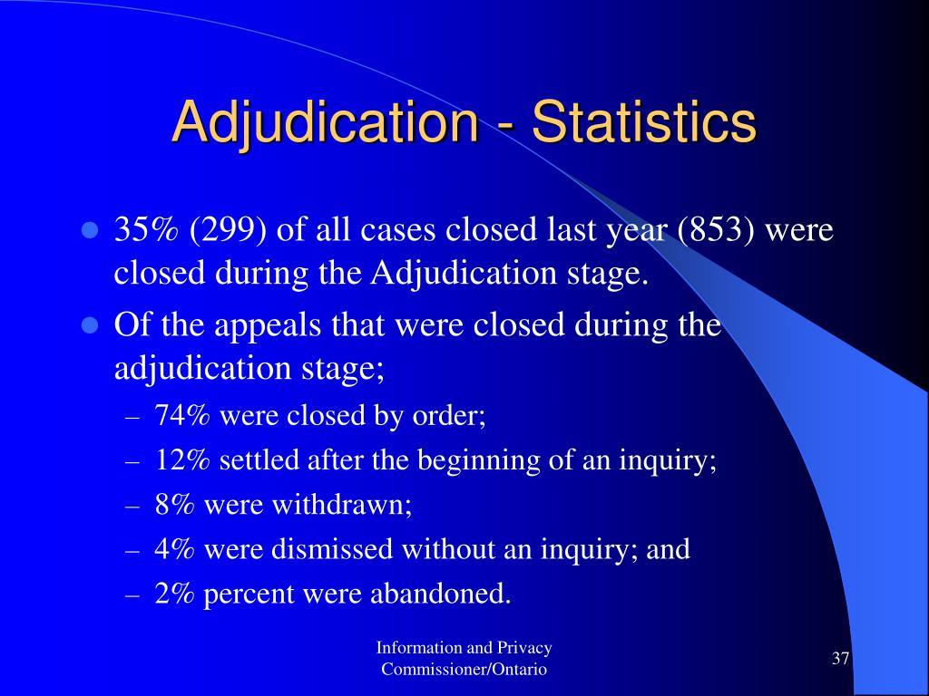Adjudication - Statistics