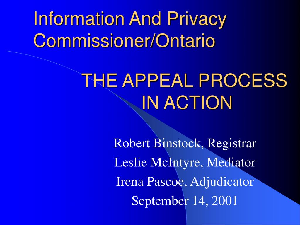 Information And Privacy Commissioner/Ontario